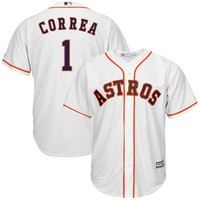 Youth Houston Astros Carlos Correa Majestic White Home Cool Base Player Jersey
