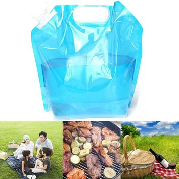 CAMTOA 5L Folding Drinking Water Container Storage Bag Pouch for Camping Hiking Picnic BBQ