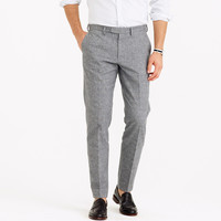 Bowery slim pant in brushed glen plaid