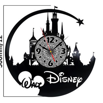 Disney gifts for adults Vinyl Clock wall Disney ornament disney home sign disney gifts for kids best friend 21st birthday horloge vinyle