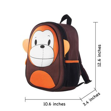 Toddler Backpack class i-baby 3D Animal Design Kids Backpack Waterproof Schools Baby Toddler Kindergarden Lunch Box Carry Bag, Ages 2+, 6 Colors AT_50_3