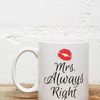 Tickled Teal Mrs Always Right Mug