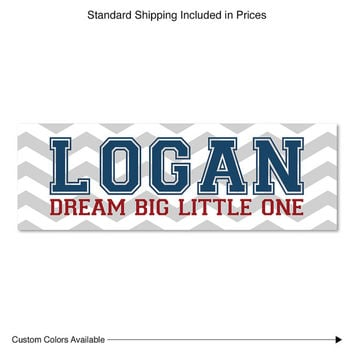 Dream big little one | name sign for nursery | baby boy gifts | canvas nursery art | personalized nursery art | baby kids name sign nursery