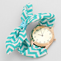 Chevon Blue Fabric Watches