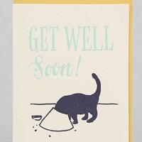 Lady Finger Letter Press Get Well Card - Assorted One