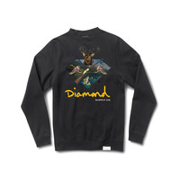 Hunters Club Crewneck Sweatshirt in Black