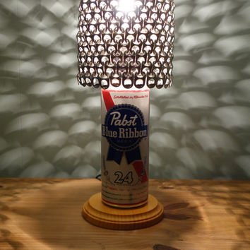 Giant 24 oz. Upcycled Pabst Blue Ribbon PBR Lamp - The Mancave Essential