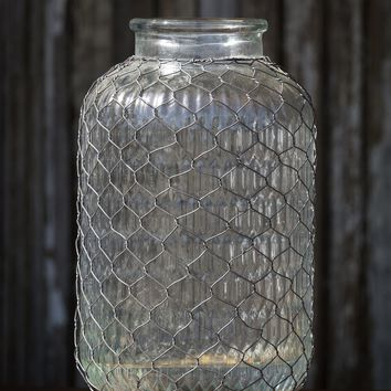 Pickle Jar with Poultry Wire
