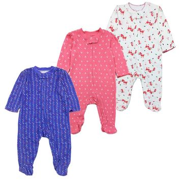newborn baby girls clothes babies boys romper long sleeve 100%cotton lovely cartoon print baby rompers