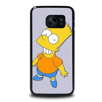 bart simpsons samsung galaxy s7 edge case cover  number 1