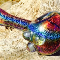 High end solid dichroic glass pipe