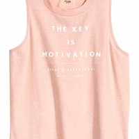 Sports vest top - Powder pink marl - Ladies | H&M GB