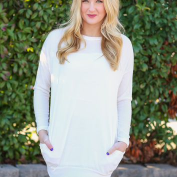Warm and Toasty Tunic - Ivory
