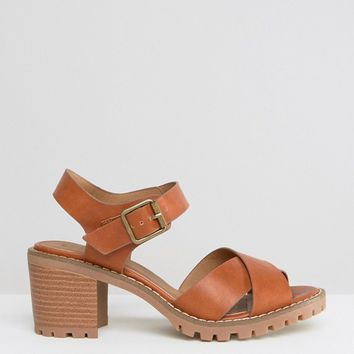 New Look Wide Fit Wrap Over Sandal at asos.com