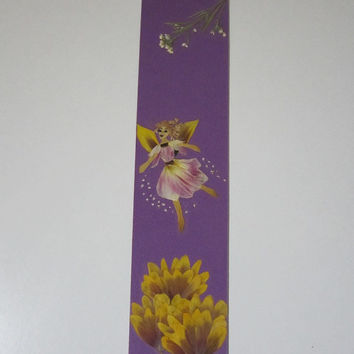 """Handmade unique bookmark """"Everyone wears the magic in itself"""" - Decorated with dried pressed flowers and herbs - Original art collage."""