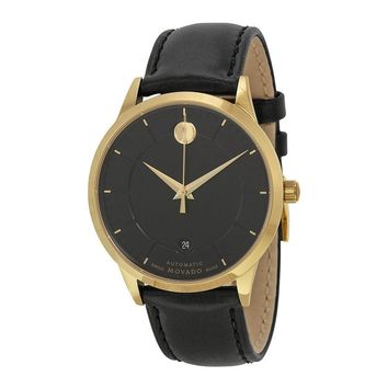 Movado 1881 Yellow Gold PVD Stainless Steel Mens Watch 0606875