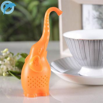 LINSBAYWU Small Elephant Tea Strainer High Quality Silicone Animal loose-leaf Tea Infuser Filter Diffuser Fun Tea Accessories