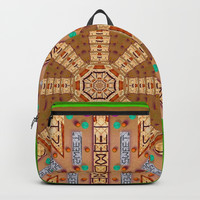 sweet crackers with chocolate mandala Backpack by Pepita Selles