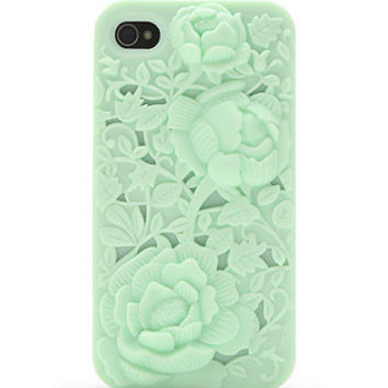 With Love From CA Embossed Floral 4/4S iPhone Case at PacSun.com
