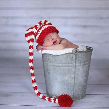 Baby Crochet Knitted Hat Winter Costume Newborn Baby Photography Props Warm Hat Baby Photography Clothing Lovely Photo Wear