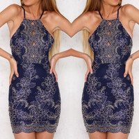 Anika Dark Blue Dress