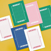 Moment archive two way lined notebook