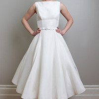 Fancy Bridal - Linda - Vintage Inspired Tea Length Wedding Dress