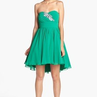 Way-In Embellished Strapless Fit & Flare Dress (Juniors) (Online Only) | Nordstrom
