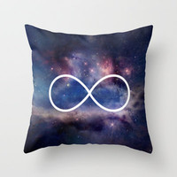 Infinity Symbol Stars Galaxy Space Throw Pillow by RexLambo | Society6