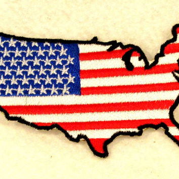 USA Boarder Flag Small Badge Patch for Biker Vest SB730