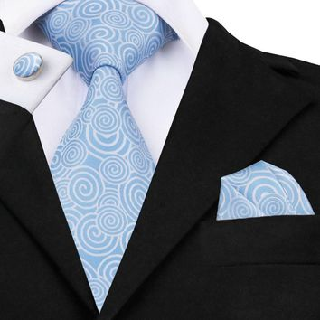 Skyblue White Knitted Men Gravata Neckties 2016 New Fashion Mens Silk Tie Novelty Prints Business Casual Classic Ties C-488