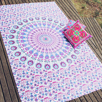 By The Moon - Corona Mandala Throw - Twin
