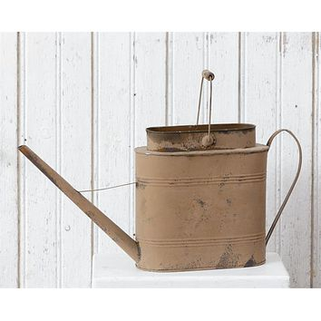 Country Farmhouse Chic Decorative RUSTY WATERING CAN Vintage Style Bucket
