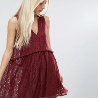 ASOS Lace Smock Dress at asos.com