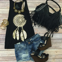 Dream Catcher Tank: Black