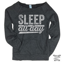Off-The-Shoulder Sweater. Sleep All Day.