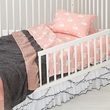 Swan Soiree Ruffle Crib Skirt | The Land of Nod
