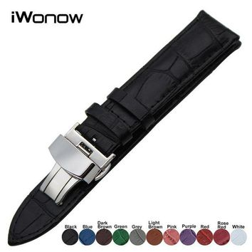 ac spbest Genuine Leather Watch Band for Casio Seiko Citizen Diesel Fossil Steel Clasp Belt Wrist Strap 18mm 19mm 20mm 21mm 22mm 23mm 24mm