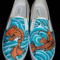 Hand Painted Off-Brand Shoes - Koi