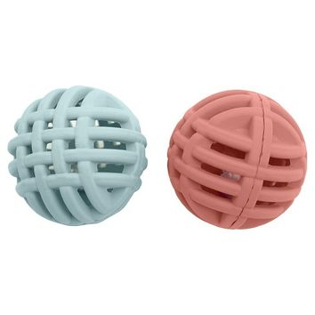 Rubber Lattice Balls with Bell Cat Toy Red 2 pk - Boots & Barkley™