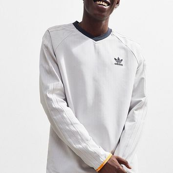 adidas Pinstripe Long Sleeve Jersey | Urban Outfitters