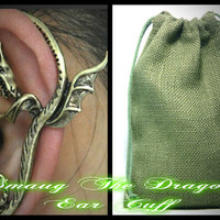 Smaug The Dragon Ear Cuff--The Hobbit Inspired Jewelry--Custom-Faeryspell Creations