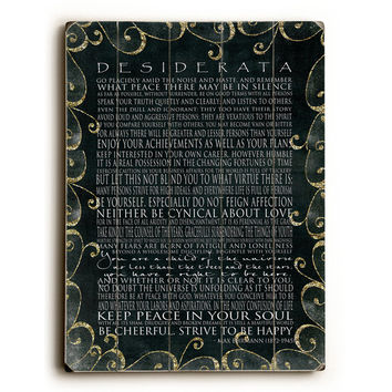 Desiderata by Artist Terry Kempfert Wood Sign