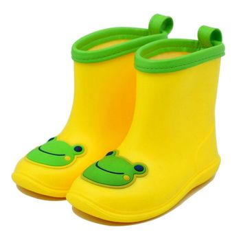 2016 New Design Cartoon Kids Rain Boots Anti-skid Girls Boys Waterproof PVC Shoes Cute Toddler Baby Water Shoes