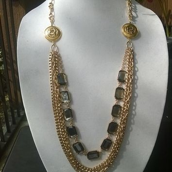 Marvelous Avant-Garde Designer Inspired Runway Chain Necklace