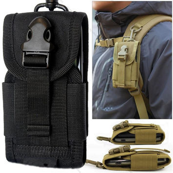 High Density Nylon Outdoor Hiking Camping Money Pocket Tactical Molle Cell Phone Travel Stuff Waist Pouch Bag