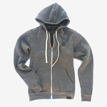 Embroidered LnL Logo Zip Hoodie (Grey)