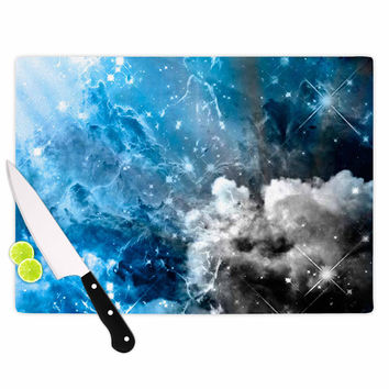 "Shirlei Patricia Muniz ""We Are Waiting For.."" Blue Abstract Cutting Board"