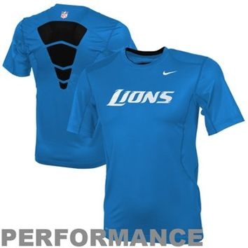 Nike Detroit Lions Dri-FIT Hypercool 2 Speed Sideline Performance Top - Light Blue