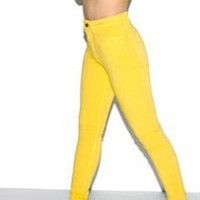 Four-Way Stretch High-Waist Side Zipper Pant | NEW | Shop American Apparel